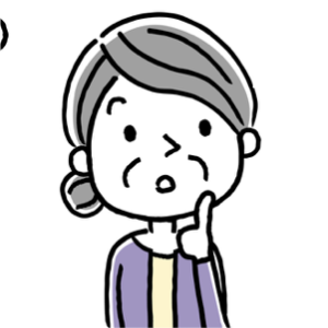 不安な顔の女性